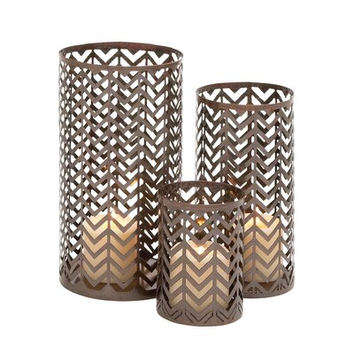 3 Piece Metal Hurricane Set