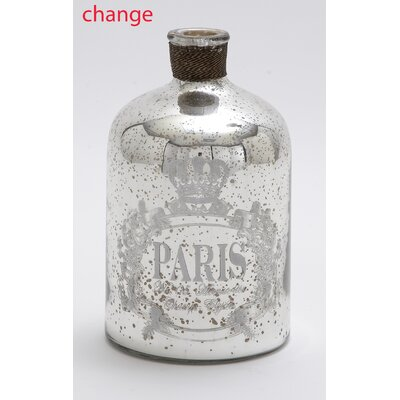 Glass Metal Decorative Bottle