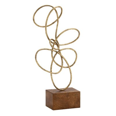 Metal Abstract Sculpture Finish: Gold