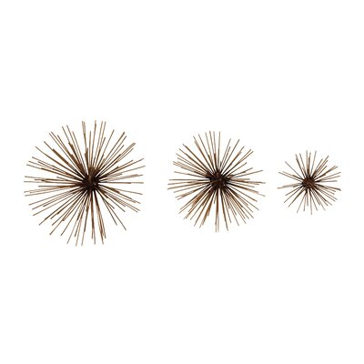 3 Piece Metal Wire Ball Set Finish: Gold