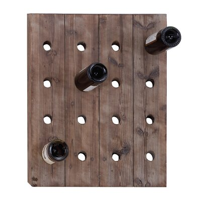 16 Bottle Wall Mounted Wine Rack