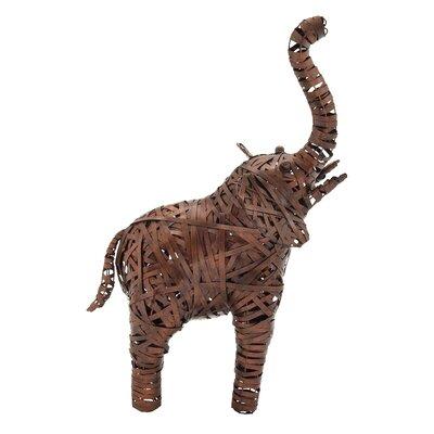 Metal Elephant Statue Size: 32 H x 22 W x 13 D