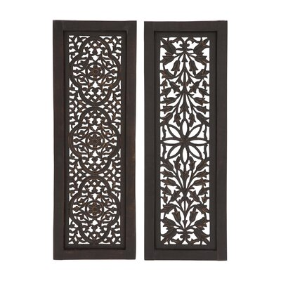 2 Piece Wood Wall Decor Set