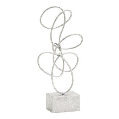 Metal Abstract Sculpture Finish: Silver