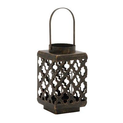 Metal Lantern Size: 17 H x 7 W x 7 D