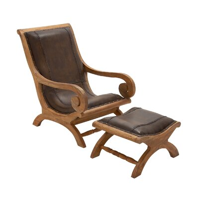 Wood Lounge Chair and Ottoman