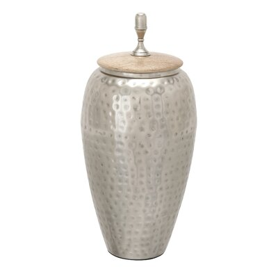 Metal Wood Decorative Urn