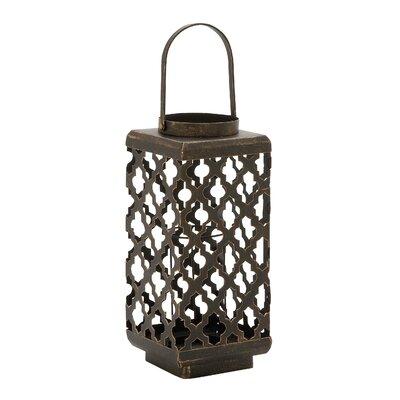 Metal Lantern Size: 20 H x 7 W x 7 D