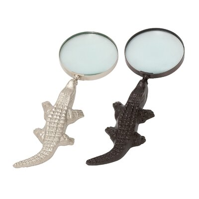 Aluminum Crocodile Magnifying Glass