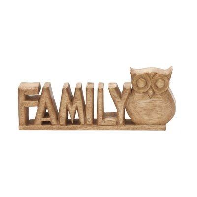 Family Owl Wood Sculpture 40443