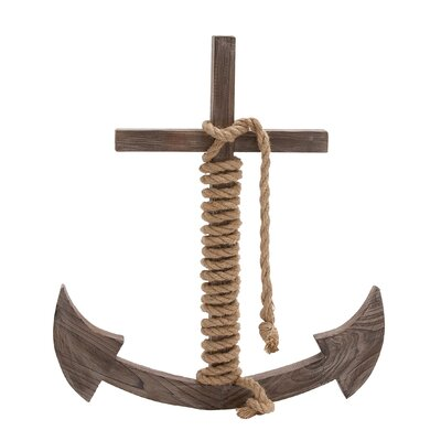 Wood Rope Anchor Wall Decor