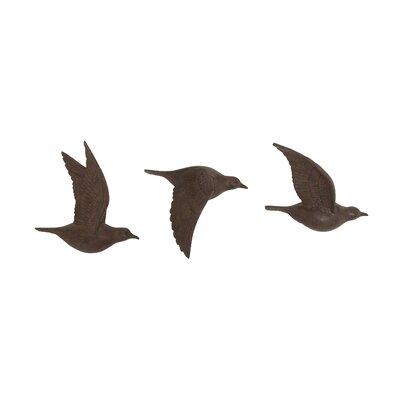 3 Piece Flying Birds Wall Decor Set