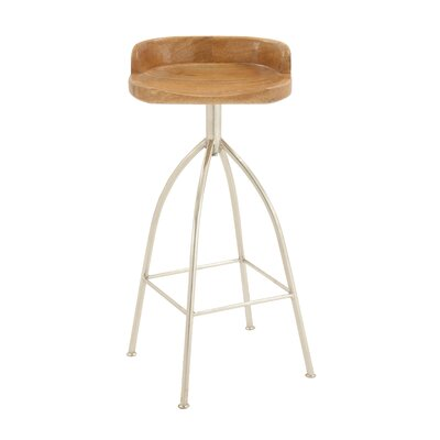 35 inch Bar Stool Upholstery: Oak