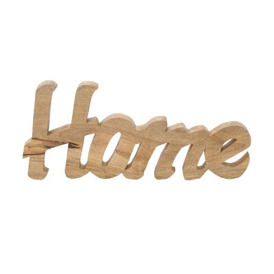 Wood Home Table Sign Letter Block