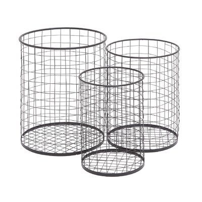 Container Metal 3 Piece Basket Set