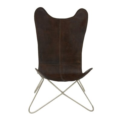 Metal Real Leather Side Chair