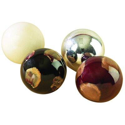 4 Piece Ceramic Decorative Ball Set