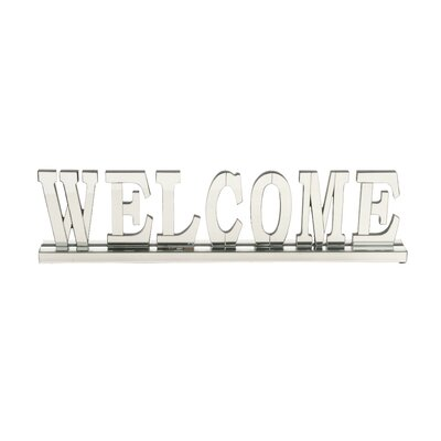 Decorative Welcome Wood Mirror Letter Blocks