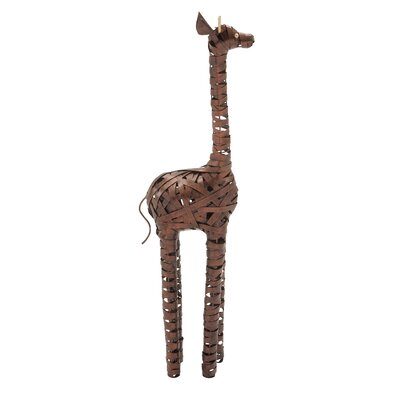 Metal Giraffe Statue Size: 29 H x 8 W x 5 D