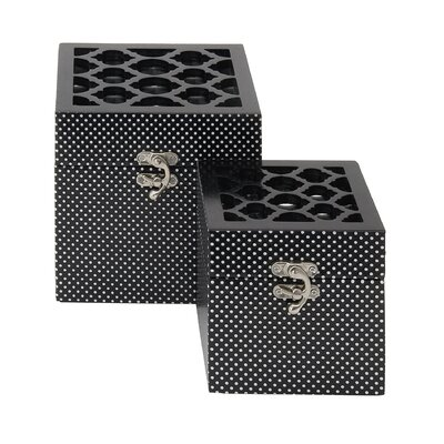 Mirrored 2 Piece Decorative Box Set