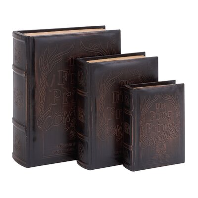 3 Piece Book Decorative Box Set