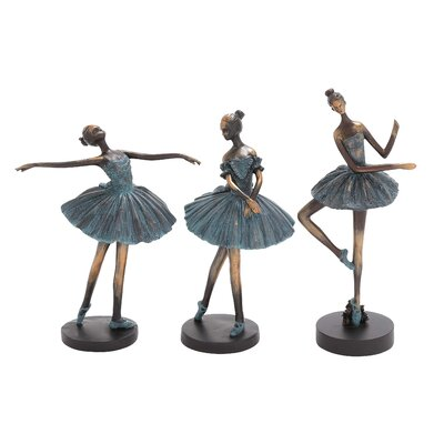 3 Piece Polystone Dancer Sculpture Set