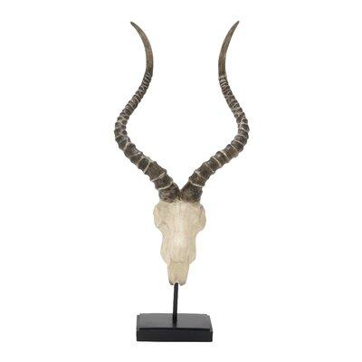 Polystone Antelope Head Bust