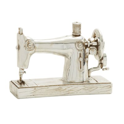 Polystone Sewing Machine Sculpture
