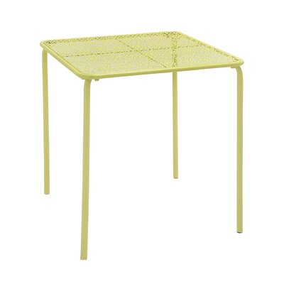 Metal Side Table Color: Yellow