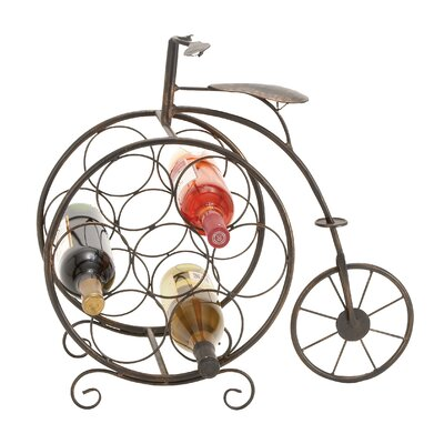Brasher Vintage Bicyclette 7 Bottle Tabletop Wine Rack