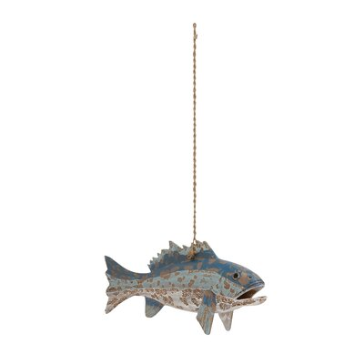 Wood Rope Fish Figurine