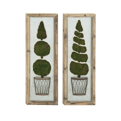 2 Piece Metal Grass Wall Decor Set