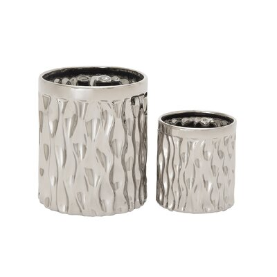2 Piece Ceramic Kitchen Utensil Crock Set 93672