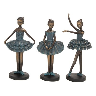 3 Piece Polystone Dancers Sculpture Set