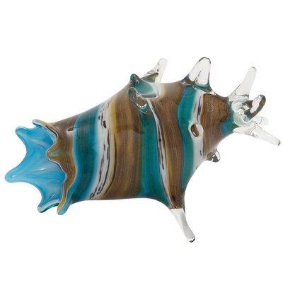 Decorative Glass Seashell Sculpture