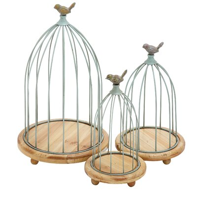 3 Piece Decorative Bird Cages Set