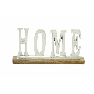 Aluminum Wood Home Letter Block