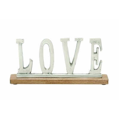 Aluminum Wood Love Letter Block