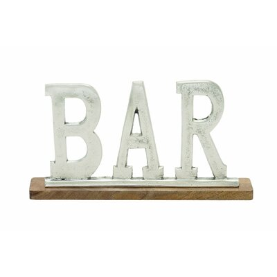 Aluminum Wood Bar Letter Block