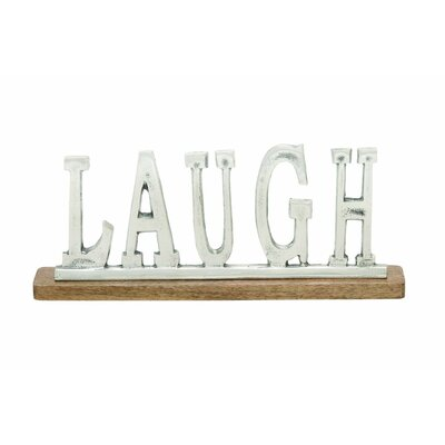 Aluminum Wood Laugh Letter Block