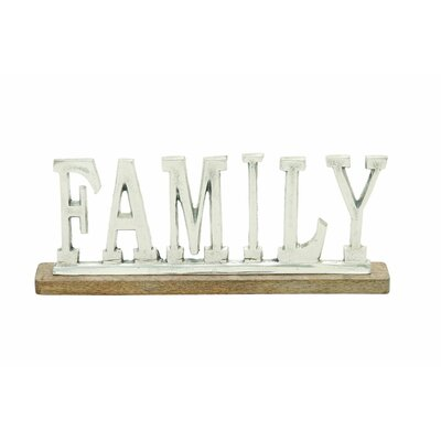 Aluminum Wood Family Letter Block