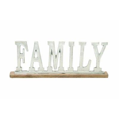 Aluminum Wood Family Letter Block Size: 8 H x 22 W x 2 D