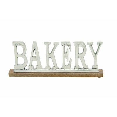 Aluminum Wood Bakery Letter Block Size: 6 H x 16 W x 2 D