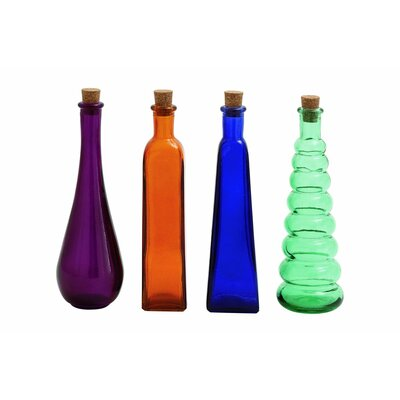 4 Piece Stopper Decorative Bottle Set