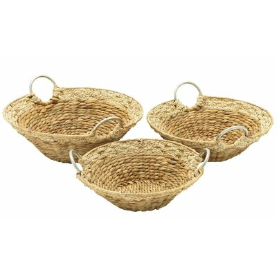 3 Piece Seagrass Basket Set