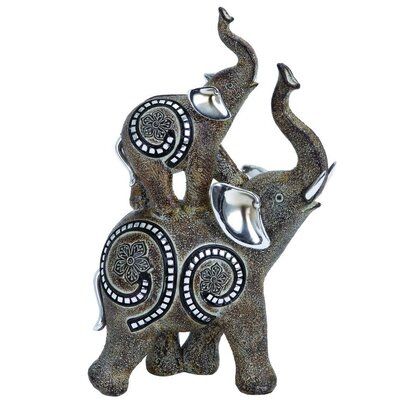 Polystone Elephant Figurine 54912