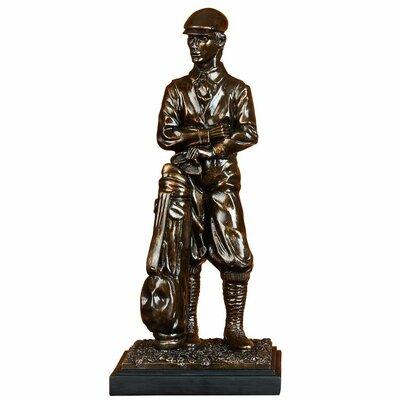 Polystone Golfer Figurine