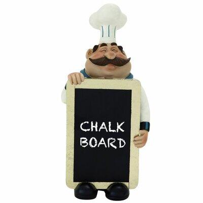 Polystone Chef Chalkboard Figurine