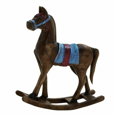 Wood Rocking Horse Figurine