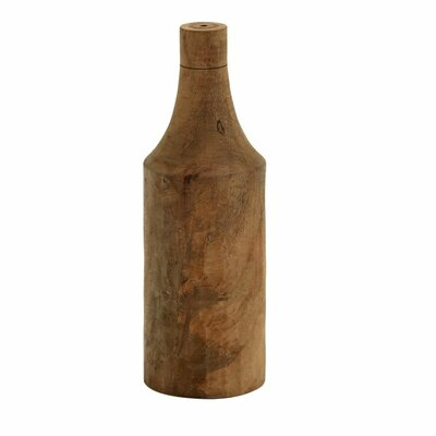 Wood Turning Decorative Bottle